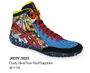 ASICS� Aggressor� 3 LE Comic-Hero Wrestling Shoes, Color: (3823)